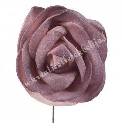 Betűzős polifoam rózsa, vintage mályva, 5 cm