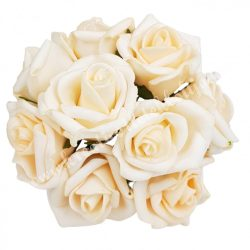 Pick polifoam rózsa, pasztell barack, 9 szál/csokor, kb. 3,5 cm