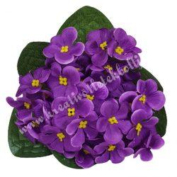 Selyemvirág ibolya csokor, lila, kb. 20 cm