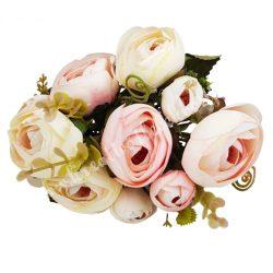 Boglárka csokor, krém-rózsaszín, kb. 30 cm, 5 szál/csokor