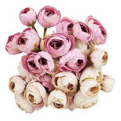 Boglárka csokor, krém-rózsaszín, kb. 30 cm, 9 szál/csokor