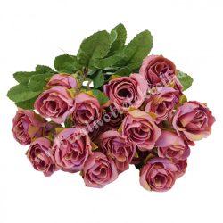 Rózsacsokor, mályva, kb. 35 cm, 9 ág/csokor