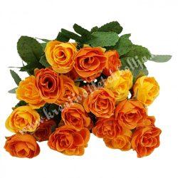 Rózsacsokor, narancssárga, kb. 35 cm, 9 ág/csokor
