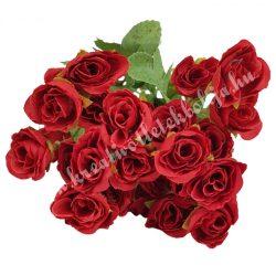 Rózsacsokor, piros, kb. 35 cm, 9 ág/csokor