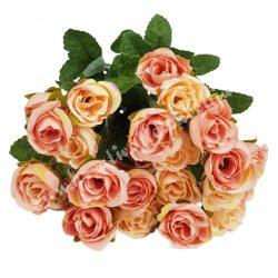 Rózsacsokor, rózsaszín, kb. 35 cm, 9 ág/csokor