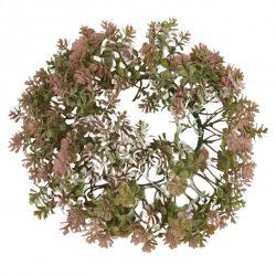 Koszorú, pozsgás, rózsaszín, 22 cm