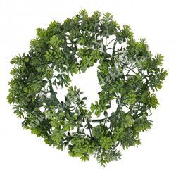 Koszorú, pozsgás, zöld, 22 cm
