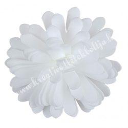 Polifoam virágfej, fehér, 5 cm