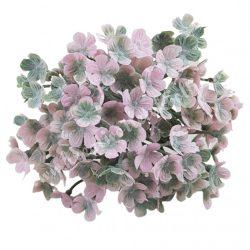 Betűzős apró virágcsokor, rózsaszín-zöld, 19 cm