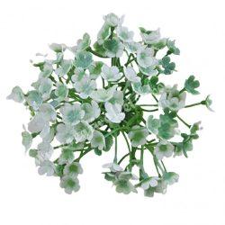 Betűzős apró virágcsokor, fehér, 19 cm