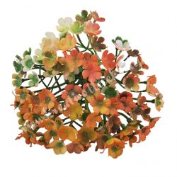 Betűzős apró virágcsokor, narancssárga, 19 cm