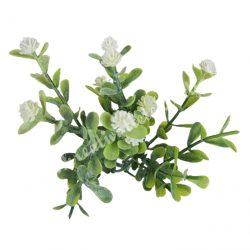 Betűzős apró virágcsokor, fehér, 14 cm