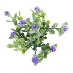Betűzős apró virágcsokor, lila, 14 cm