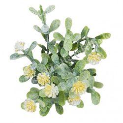 Betűzős apró virágcsokor, sárga, 14 cm