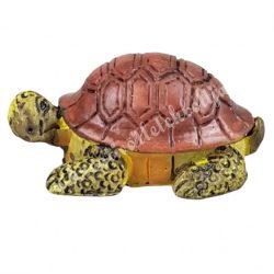 Polyresin teknős, 3,5x1,5 cm