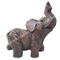 Polyresin elefánt, 4x4 cm