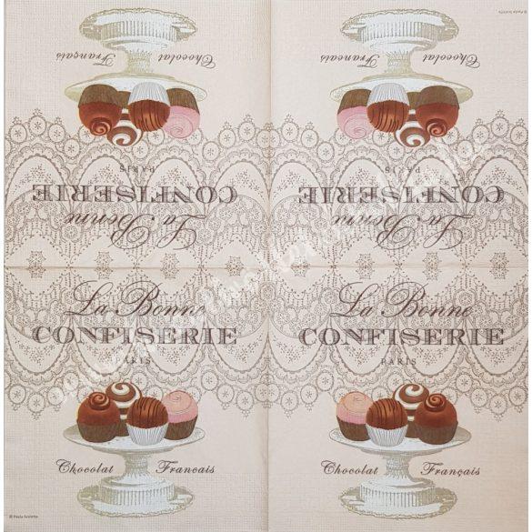 Szalvéta, édesség, muffin, 33x33 cm (28)