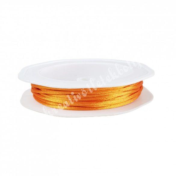 Szatén zsinór, narancssárga, 2 mm